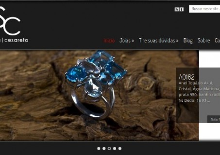 Website do Atelier Strass & Cezareto